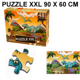 Puzzle geant 48 pieces Dinosaure piece XL 60 x 90 cm