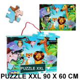 Puzzle geant 48 pieces La Jungle Lion Girafe piece XL 60 x 90 cm