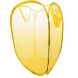 Rangement Pop Up pliant jouet peluche bac à linge panier jaune