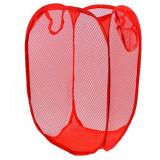 Rangement Pop Up pliant jouet peluche bac à linge panier rouge