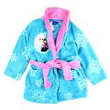 Robe de chambre 6 / 8 ans La Reine des Neiges peignoir capuche bleu