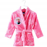 Robe de chambre 2 / 3 ans La Reine des Neiges peignoir capuche rose