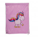 Sac souple licorne ecole gym piscine rose