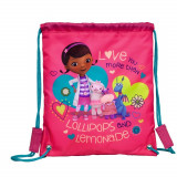 Sac souple Doc La Peluche Disney Gym piscine ecole sac a dos tissu Doc Mc Stuffins