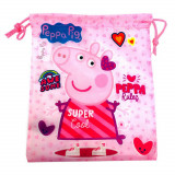 Sac Souple Peppa Pig Disney Gym Piscine Tissu Rose
