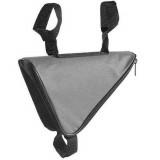 Sacoche triangle pour cadre de vélo gris