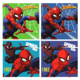 1 serviette Disney Spiderman essuie main 30x30cm ecole enfant