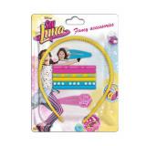 Set 9 pièces Soy Luna Serre tête barrette élastique à cheveux Disney