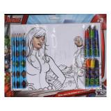Set de coloriage Les Avengers 6 feutres + 6 crayons + 6 feuilles A4 Disney