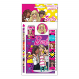 Set écolier Barbie règle, carnet, crayon, gomme et taille crayon New
