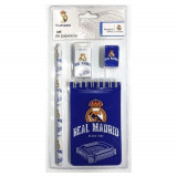 Set écolier Real de Madrid carnet crayon gomme et taille crayon