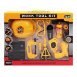 Set outil de bricolage marteau casque chantier perceuse hache jouet enfant