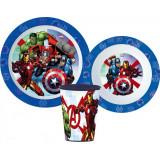 Set repas Avengers Micro onde gobelet assiette verre réutilisable