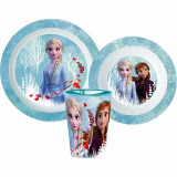 Set repas La Reine des Neiges Micro onde Frozen gobelet assiette verre réutilisable