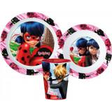 Set repas Miraculous Ladybug Micro onde gobelet assiette verre réutilisable