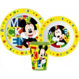 Set repas Mickey Mouse Micro onde gobelet assiette verre réutilisable