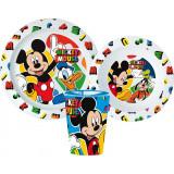 Set repas Mickey Micro onde gobelet assiette verre réutilisable