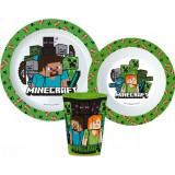 Set repas Minecraft Micro onde gobelet assiette verre réutilisable