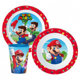 Set repas Mario Bross Dejeuner plastique Nintendo réutilisable