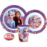 Set repas La Reine des Neiges 2 Micro onde gobelet assiette verre plastique