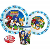 Set repas Sonic Micro onde gobelet assiette verre plastique  réutilisable