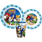 Set repas Sonic Micro onde plastique gobelet assiette verre réutilisable