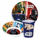 Set repas Star Wars gobelet assiette melamine dejeuner enfant Reutilisable