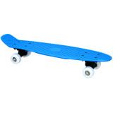 Skateboard complet 57 cm bleu retro plastique