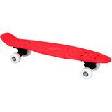 Skateboard complet 57 cm rouge retro plastique
