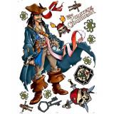 Stickers mural Pirate des caraibes XXL chambre enfant mur