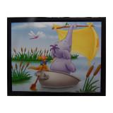 Tableau Winnie l'Ourson, Petit Gourou et Lumpy 20 x 25 cm Disney cadre rect