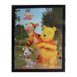 Tableau Winnie l'Ourson, Buster et Tigrou 20 x 25 cm Disney cadre rect