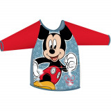 Tablier de peinture bricolage Mickey enfant manche longue ecole