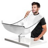 Tablier de rasage barbe fixation ventouse lavable miroir cape bavoir