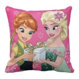 Taie d'oreiller La reine des Nieges Disney enfant coussin rose