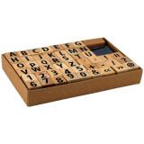 49 tampon en bois alphabet chiffre lettre
