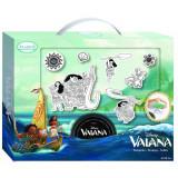 7 gros tampon mousse Vaiana enfant encreur lavable