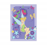 Tapis enfant Fee Clochette 133 x 95 cm flowers