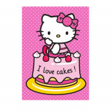 Tapis enfant Hello Kitty 133 x 95 cm Cakes