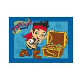 Tapis enfant Jake et les PIrates 133 x 95 cm coffre