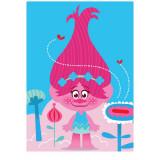 Tapis enfant Les Trolls 133 x 95 cm Disney Queen Poppy