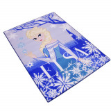 Tapis enfant La Reine des Neiges 133 x 95 cm Disney Elsa