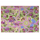 Grand tapis de route 140 x 200 cm circuit rose