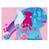 Tapis enfant Les Trolls 133 x 95 cm Disney Cupcake Poppy