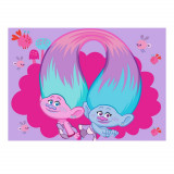 Tapis enfant Les Trolls 133 x 95 cm Disney Super Cool