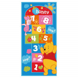 Tapis enfant Marelle Winnie l'Ourson 140 x 67 cm Disney