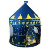 Chateau en tissu bleu cabane tente maison jouet enfant