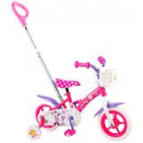 Vélo Disney Minnie Mouse 10 pouces avec canne parentale