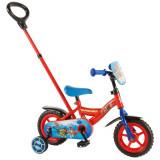 Vélo Disney Pat Patrouille 10 pouces avec canne parentale