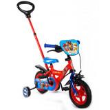 Vélo Disney Pat Patrouille 10 pouces avec canne directionnelle enfant